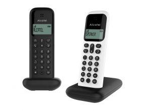 Alcatel D285 DUO Dect huistelefoon voor de vaste lijn toestel in zwart en wit