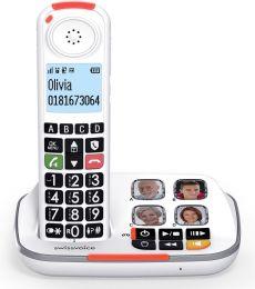 Swissvoice XTRA2355 Draadloze huistelefoon voor de vaste lijn | Senioren huistelefoon | Grote toetsen | 4 Fotogeheugen toetsen | Antwoordapparaat | Gehoorapparaat compatibel | Extra volume beltoon tot 90 dB | Extra volume luidspreker + 40 dB |