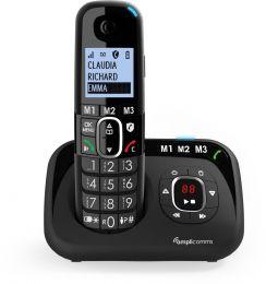 Amplicomms BigTel1580 Senioren draadloze huistelefoon voor de vaste lijn | Antwoordapparaat | Luide oproeptonen | Ongewenste bellers blokkeren | 3 directe geheugen toetsen | Handsfree | Instelbaar volume | Grote toetsen | Gehoorapparaat compatibel