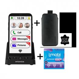 Swissvoice G50s Senioren smartphone | Simlock vrij | GRATIS L-mobi Jaarbundel | GRATIS Lederen Tasje