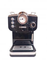 Zanussi - EMZ17-SSB - Vintage Barista Italian Espressomachine met stoompijpje - 20 bar - 1.25L - Zwart