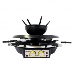 Zanussi RCZ28-SSBL 4-in-1 Grill - Gourmet - Raclette - Fondueset voor 8 personen 1900W