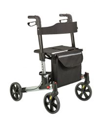 Weinberger Rollator | Gecertificeerd Medisch Hulpmiddel | Dubbel Opvouwbaar | Compact mee te nemen | Lichtgewicht - 7.3 kg | Maximaal draagvermogen 136 kilo