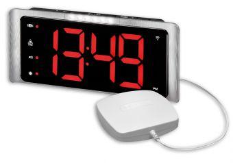 Amplicomms TCL-410BNL Jumbo klok / wekker met 7,5 cm grote -, verlichte cijfers, luide bel 95 dB, flitser en trilalarm