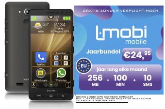 Bea-Fon M5s Senioren smartphone | Android | Eenvoudig menu | Whatsapp | SOS-knop | Simlock vrij | GRATIS L-mobi Jaarbundel