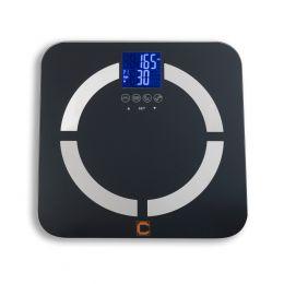 Cresta Care CBS350S Personenweegschaal met lichaamsanalyse | Weergave van het lichaamsgewicht in kilo - pound of stone| Weergave Lichaamsvocht | Weergave Spiermassa | Weergave Botmassa | BMI | Geheugen voor 8 personen|