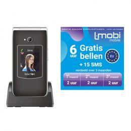 Bea-Fon SL645s Senioren mobiele telefoon | Simlock vrij | GRATIS L-mobi 6 uur bellen bundel + 15 SMS