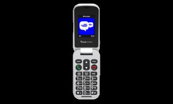 Amplicomms M24S – Clamshell 2G mobiele telefoon | SOS knop | Compatibel met gehoorapparaat | Zwart